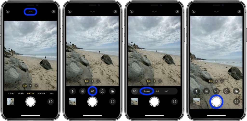 scattare foto quadrate con iPhone 2