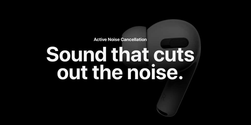 Cancellazione del rumore con AirPods Pro