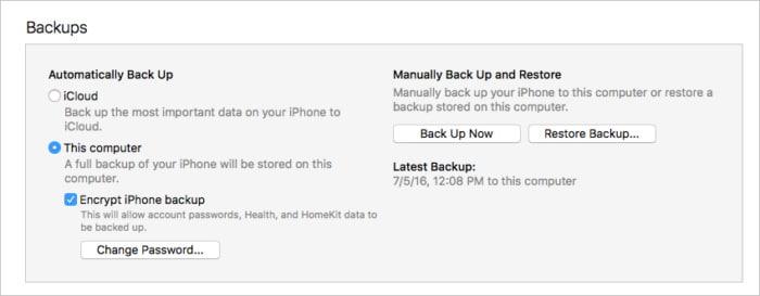 trasferire dati da iPhone a iPhone 2