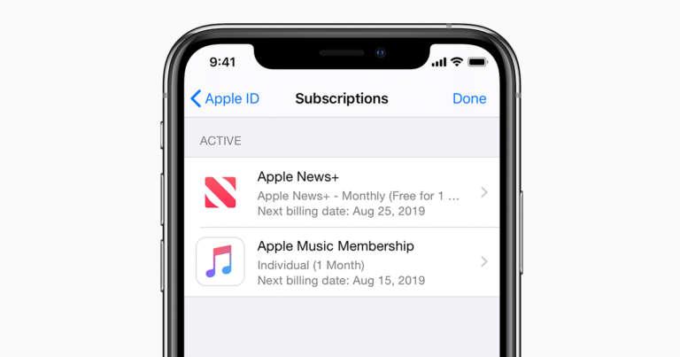 cancellare abbonamenti attivi su iPhone