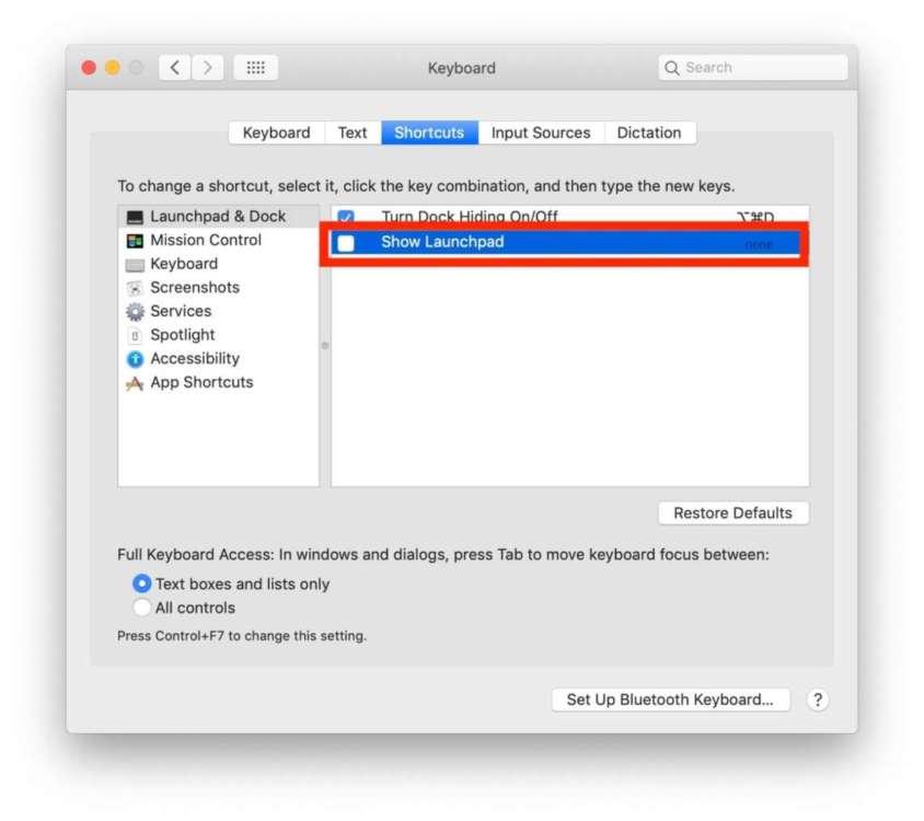 Come disabilitare il Launchpad su Mac 2