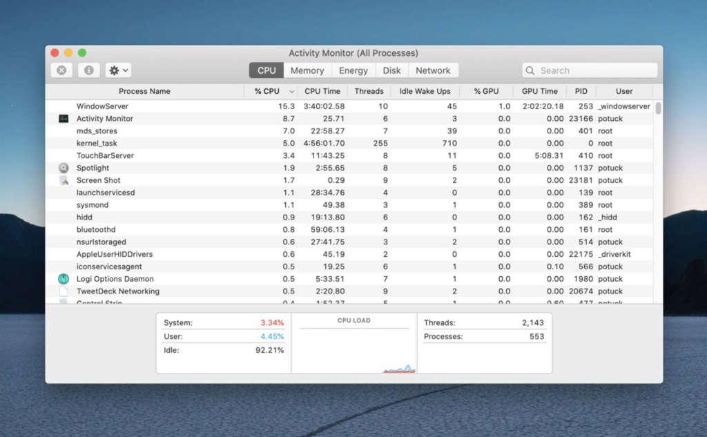 Chiusura delle app nella Statusbar del Mac