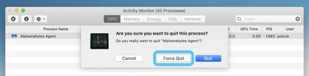Chiusura delle app nella Statusbar del Mac 2