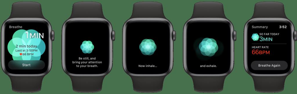 Rilassarsi usando l'Apple Watch 1