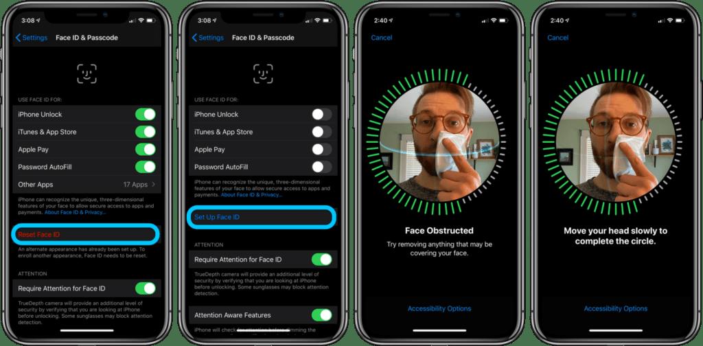 migliorare FaceID iPhone con la maschera 1