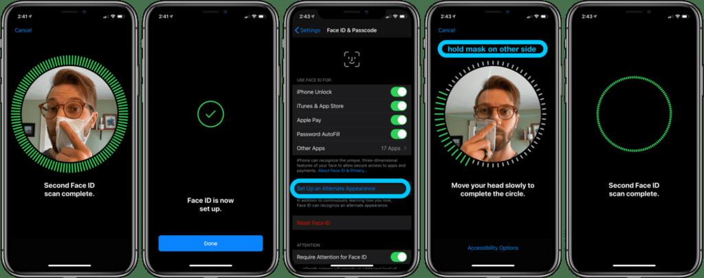migliorare FaceID iPhone con la maschera 2