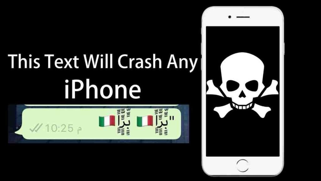 stringa di testo provoca il crash