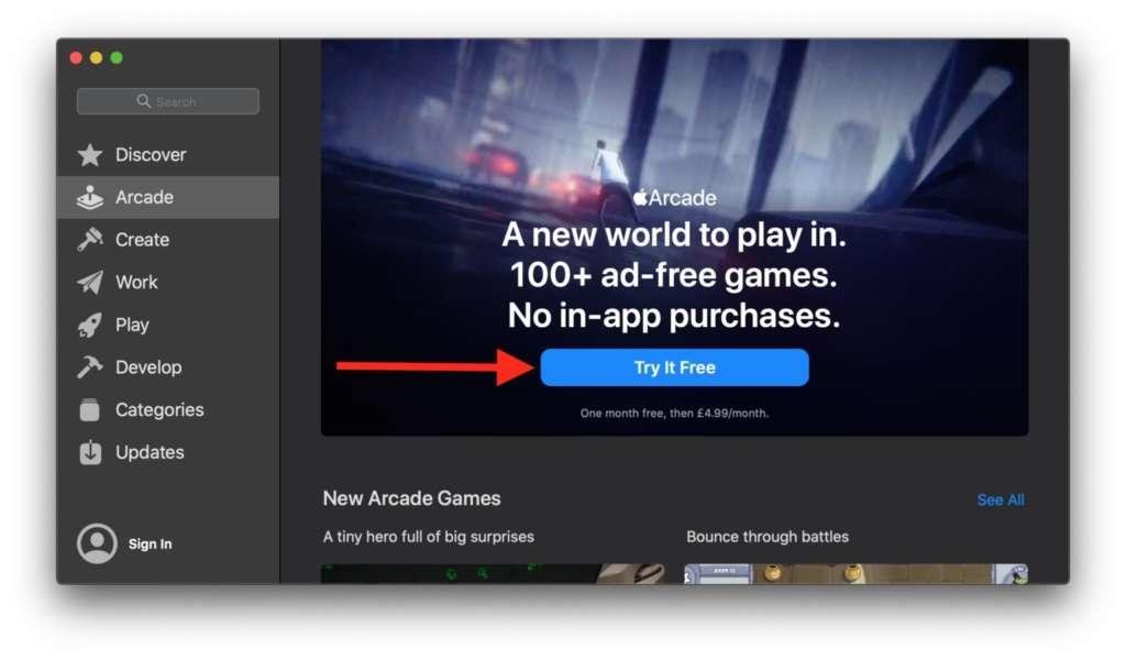 Giocare con Apple Arcade su Mac1