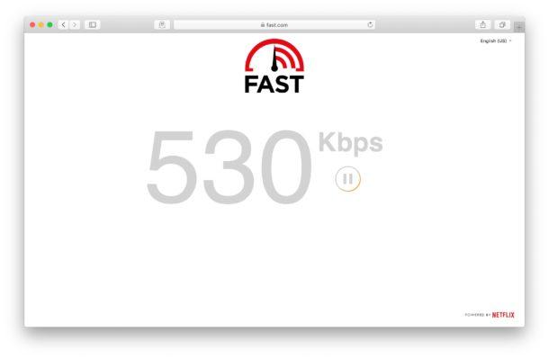 vedere la velocità di connessione