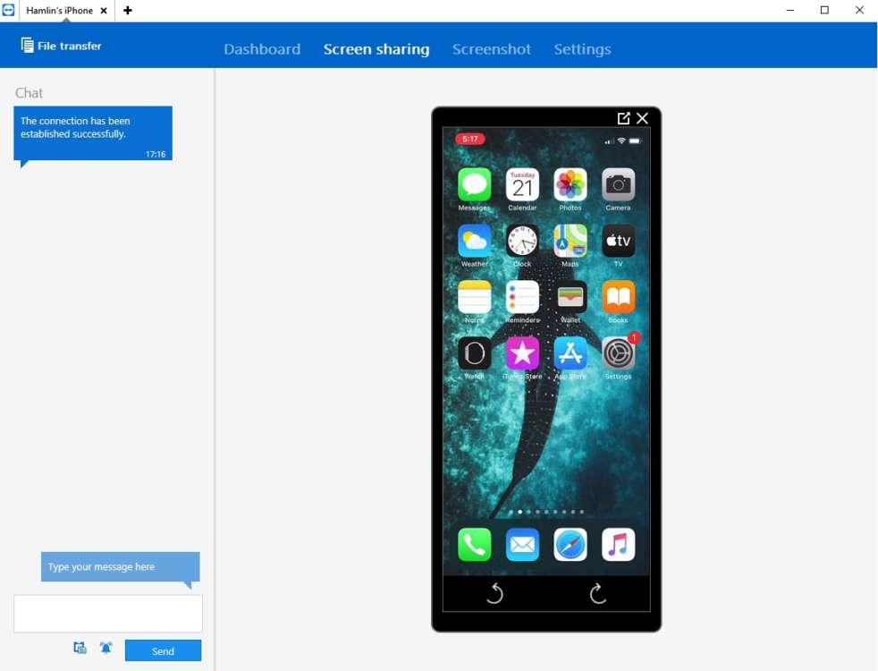 condividere schermo dell'iPhone con TeamViewer 6