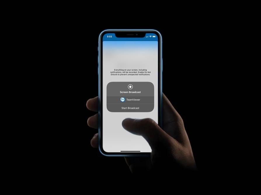 condividere schermo dell'iPhone con TeamViewer