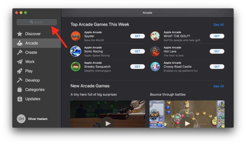 Giocare con Apple Arcade su Mac 2