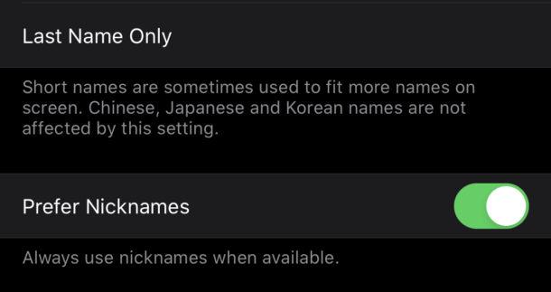 aggiungere un nickname ai contatti su iPhone 1
