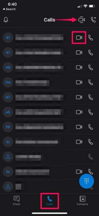 condividere schermo iPhone con Skype 4