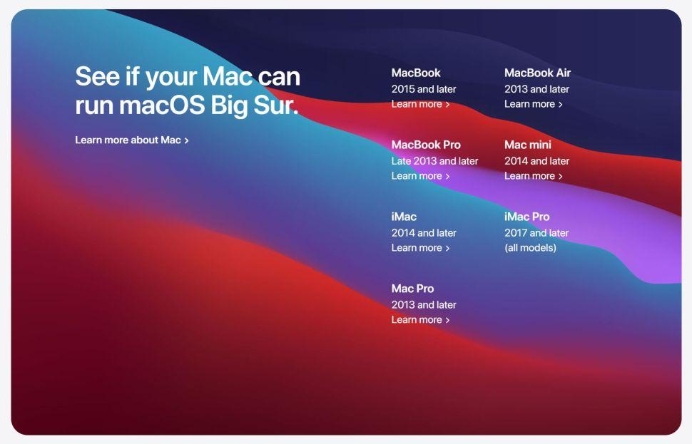 Novità di MacOS Big Sur: supporto mac