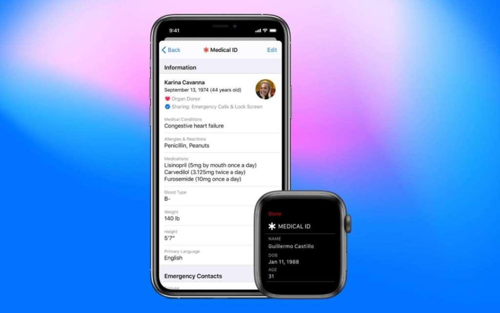 Aggiornare informazioni mediche su iPhone e Apple watch