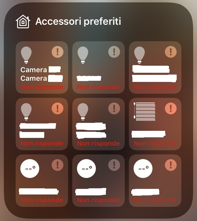 Dispositivo Homekit non risponde