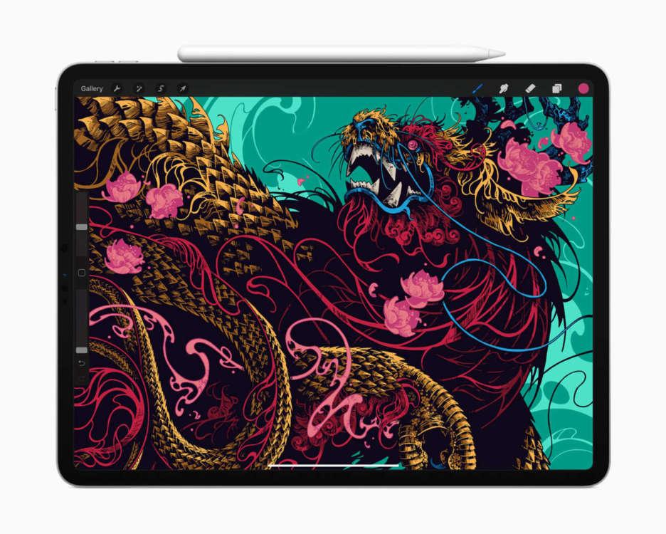iPad Pro 12.9 Lidar paint