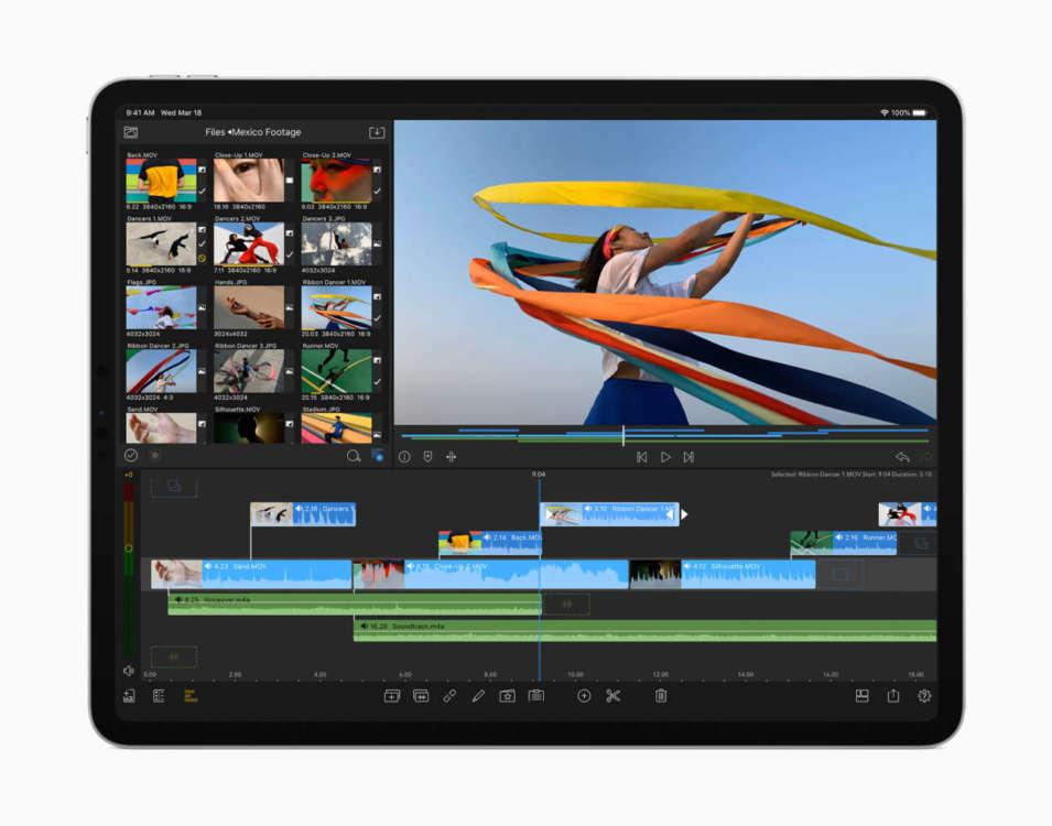 iPad Pro 12.9 Lidar iMovie