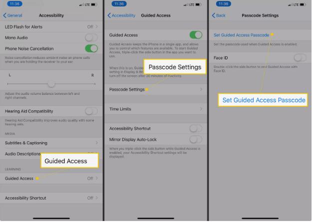 Bloccare le applicazioni sull'iPhone utilizzando l'accesso guidato