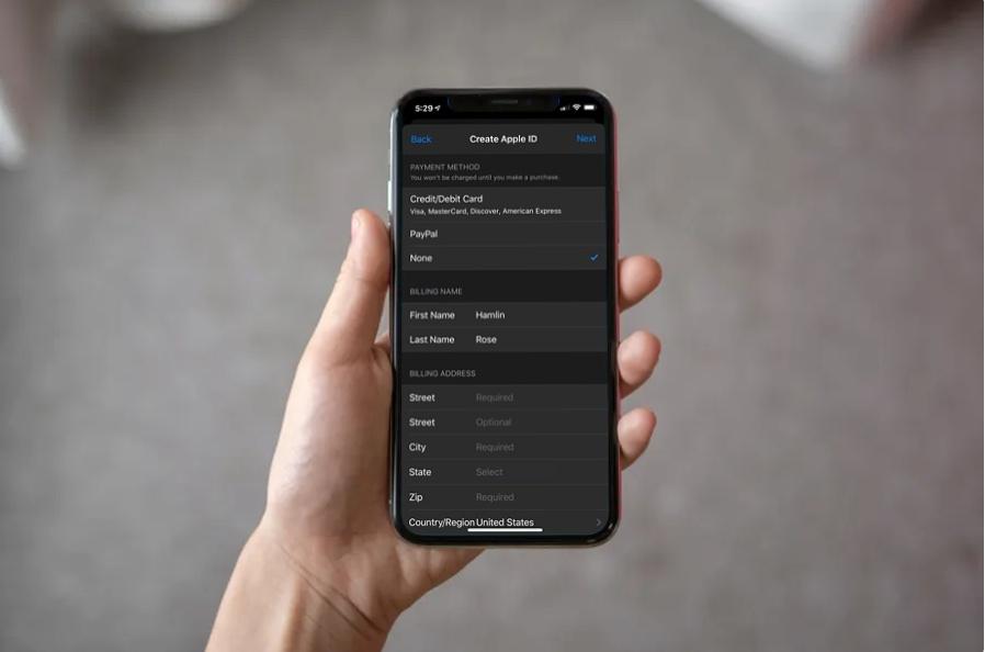 Come creare un Apple ID senza carta