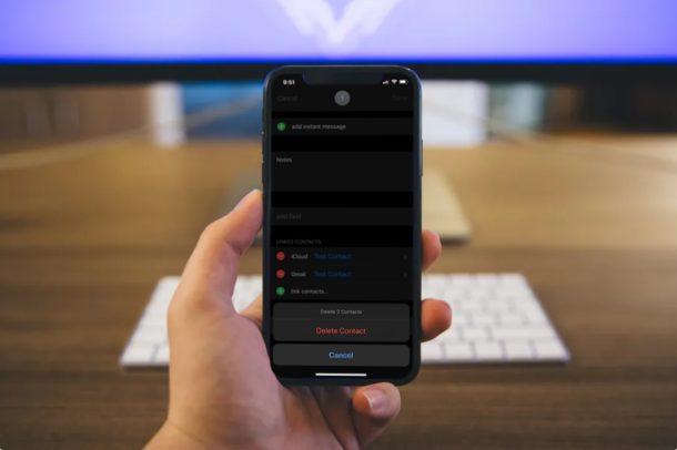 eliminare contatti duplicati su iPhone