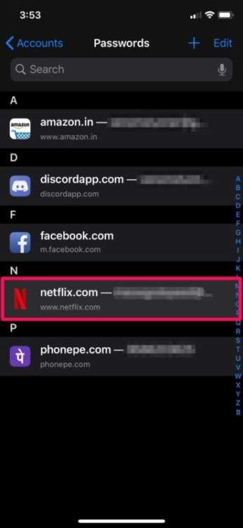 modificare le password su iPhone e iPad 4