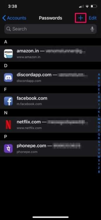 Come aggiungere manualmente le password su iPhone e iPad 4