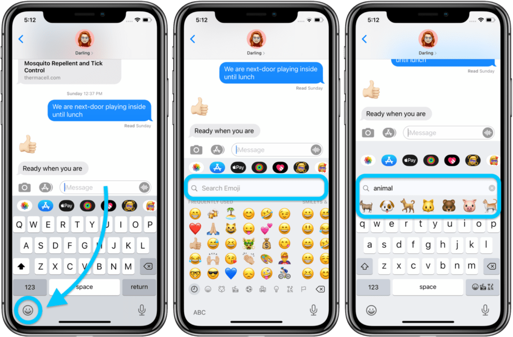 cercare Emoji su iPhone con iMessage 1