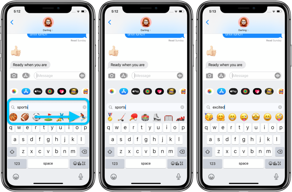 cercare Emoji su iPhone con iMessage 2