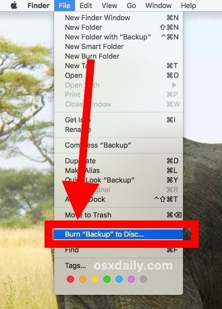 Masterizzare file su DVD/CD con il Mac guida