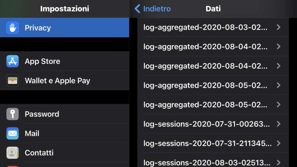 Cicli di ricarica della batteria dell'iPhone log-aggregated