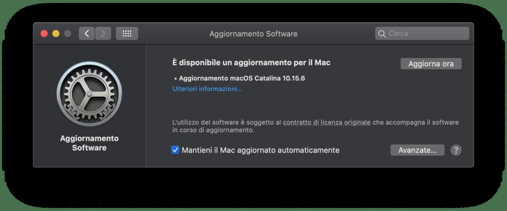 download di MacOS 10.15.6