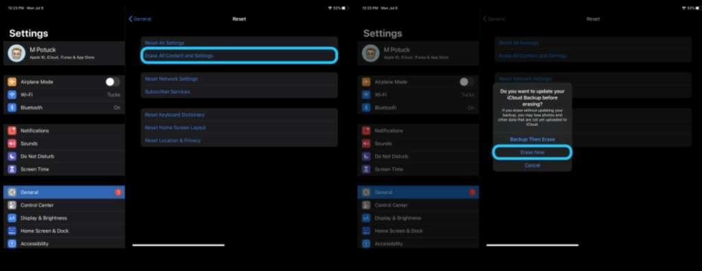 come formattare completamente l'iPad 2