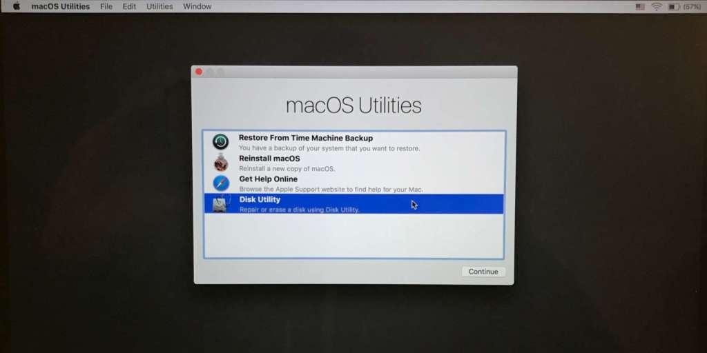 Formattare il MacBook completamente 2