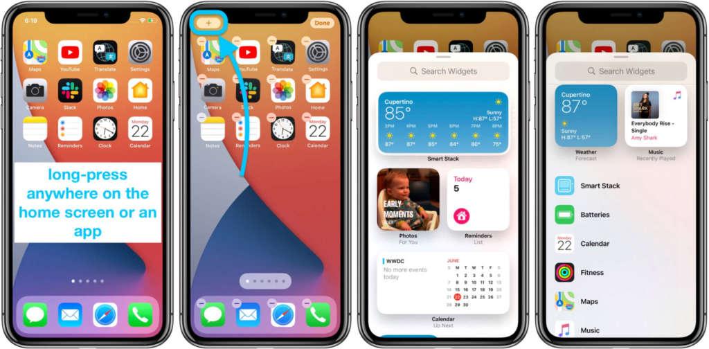 come impostare i widget su iPhone 1