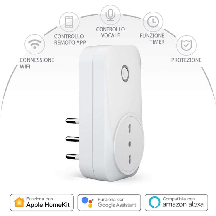 Presa italiana Homekit di Meross
