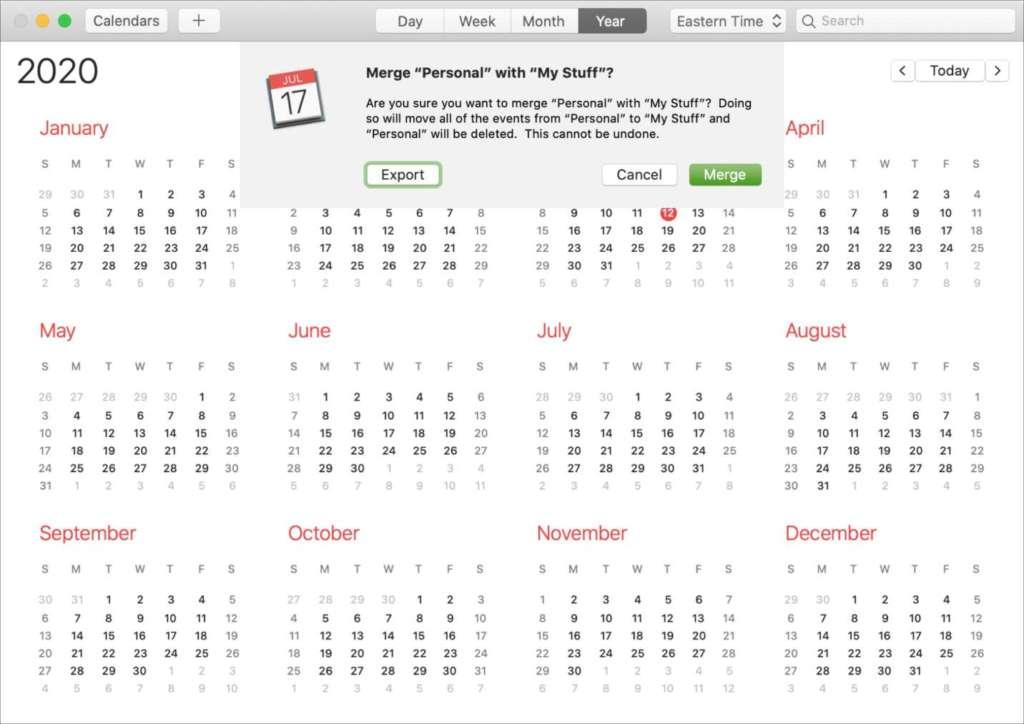 Come unire più calendari iCloud