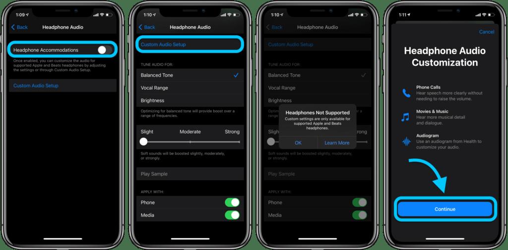 Personalizzare l'audio delle cuffie su iPhone e iPad 2