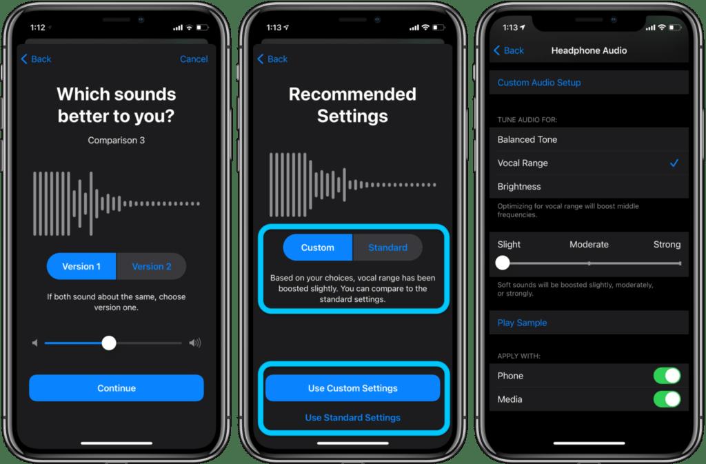 Personalizzare l'audio delle cuffie su iPhone e iPad 4