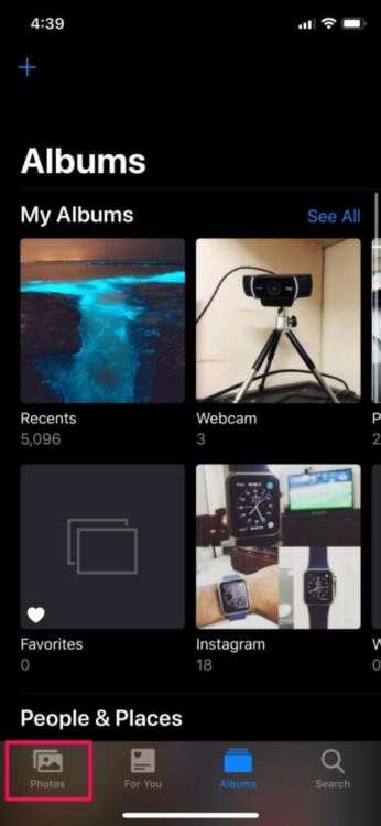 Eliminare tutte le foto da iPhone 1