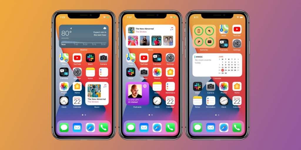 Personalizzare l'home screen su iPhone