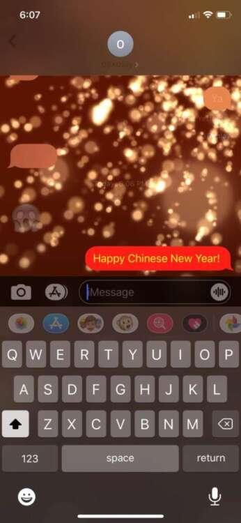 Le parole che attivano gli effetti su iMessage celebrazione