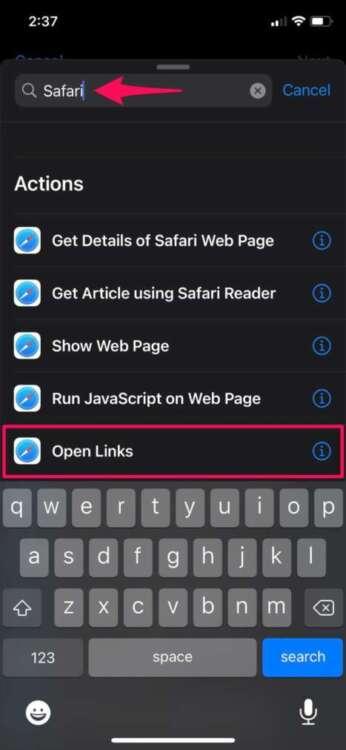 Aggiungere i segnalibri di Chrome nella homepage safari