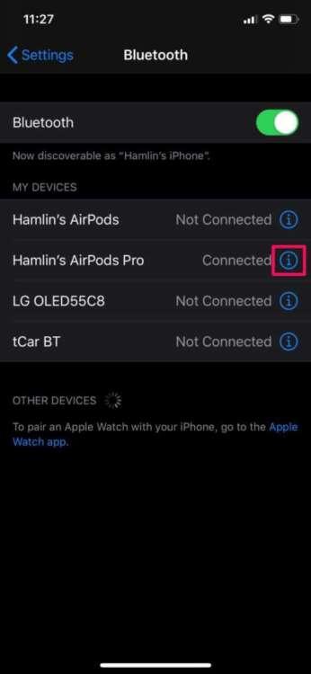 Un AirPod non funziona impostazioni