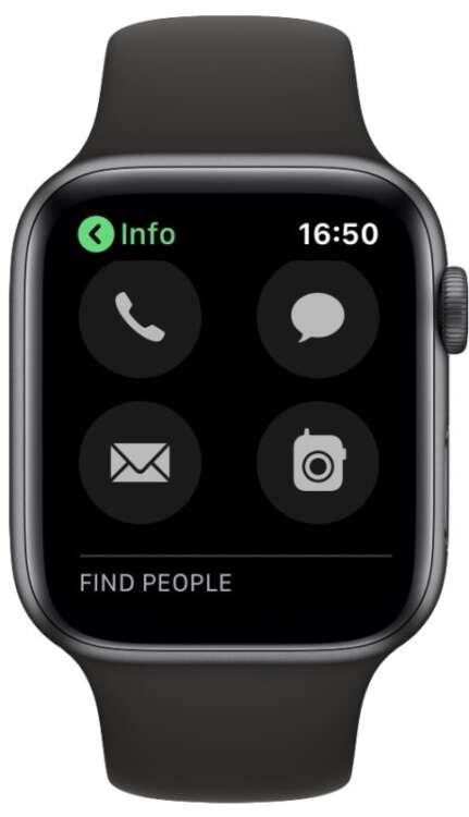 Come chiamare dall'Apple Watch1