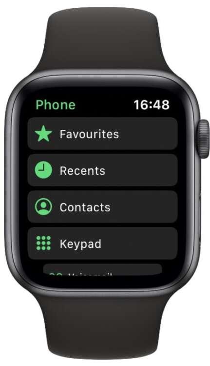 Come chiamare dall'Apple Watch2