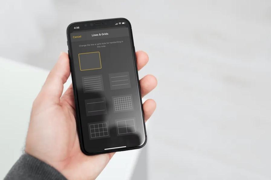 Cambiare lo sfondo delle Note su iPhone