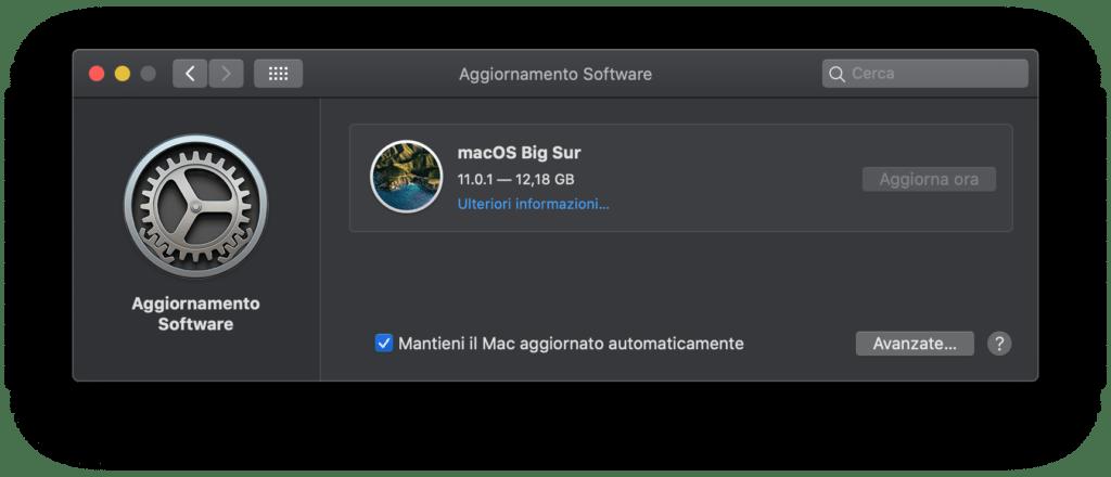 download di MacOS Big Suo
