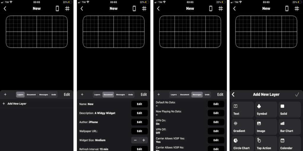 Widget personalizzati su iPhone impostazioni